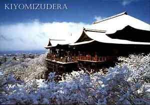 JAPAN-Post-Card-Postkarte-Temple-Kiyomizu-Kiyomizudera-Ansichtskarte-Tempel-col