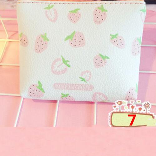 Flamingo-Minibeutel PU-Erdbeere-Reißverschluss-Mappen-Karten-Schlüsselkette