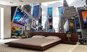 New york city times square wall mural photo wallpaper for Poster mural geant new york