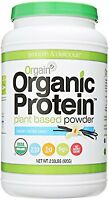 Orgain Organic Plant Based Protein Powder, Sweet Vanilla Bean, 2.03 Pound, 1 on sale