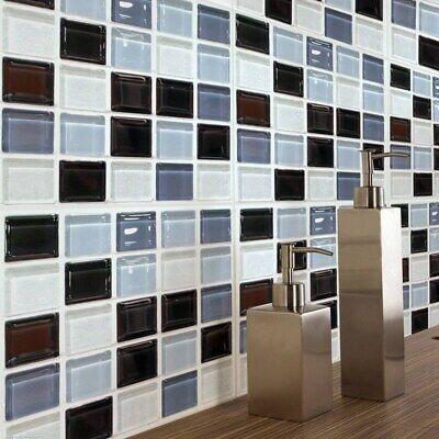 Mosaik 3D selbstklebende Badezimmer-Küche-Dekor-Wand-Fliesen ...