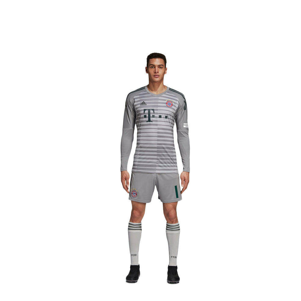 Adidas Football FC Bayern Munich Mens Kids Goalkeeper Kit 2018 2019 Shirt Shorts