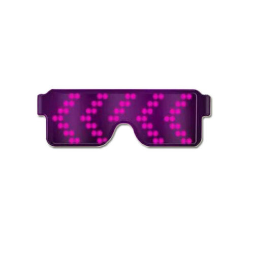 LED Light Glasses Rechargeable Luminous Ambient Light for Party Dance Nightclub