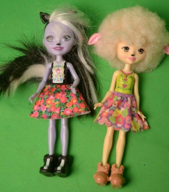 Lot Of 2 Enchantimals Lorna Lamb And Sage Skunk// Caper Brand New.