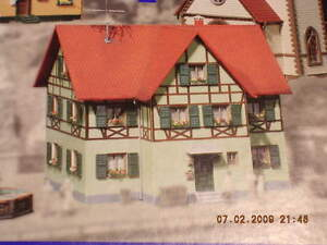 Faller-H0-130220-Fachwerk-Zweifamilienhaus-Bausatz-NEU