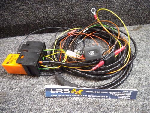 Defensor climatizada Pantalla de viento arnés de cableado relé Con Switch It Para Td5 Tdci