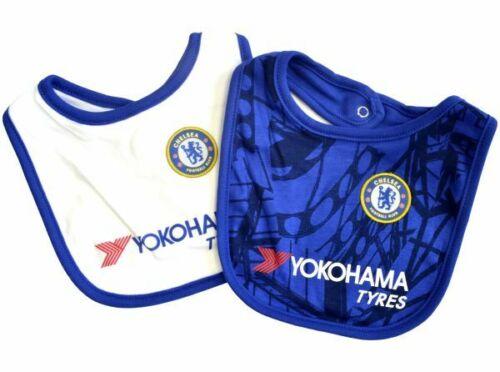 Chelsea FC Offiziell Fußball Geschenk 2er Pack Home /& Away Set Baby Lätzchen