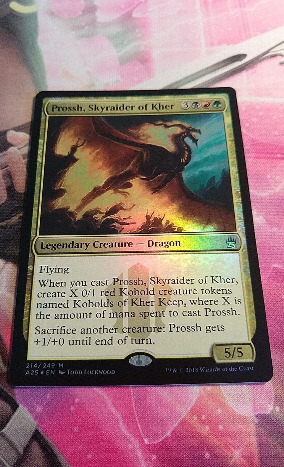 OtBG MTG Magic Foil Mythic LP Light Play Prossh, Prossh, Prossh, Skyraider of Kher Masters 25 43faab