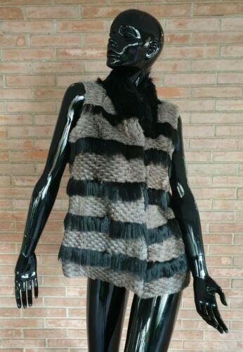 GILET in PELLICCIA di lapin rex e alpaca fur vest jacket no volpe fourrure peltz