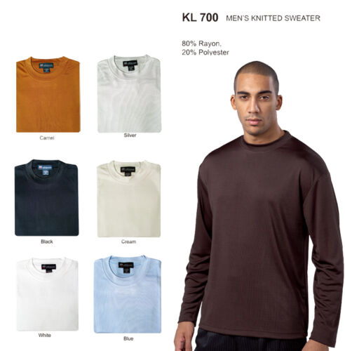 Men's Knitted Rayon Silky Smooth Feel Sweater Long Sleeve 7 Colors StyleKL700