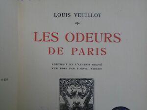 LOUIS VEUILLOT- LES ODEURS DE PARIS- ED GEORGES CRES- 1914- EXEMPLAIRE N° 433