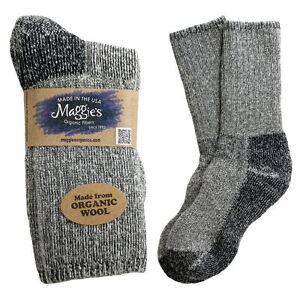 Maggie s Organics Wool Socks Made in USA Killington Hiker Choice of ... 0653868596a6