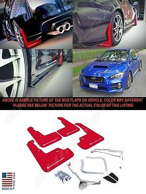 Rally Armor MF32-UR-RD//WH Red White Mud Flap with Logo 15+ Subaru WRX /& STi Sedan Only UR