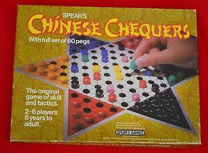 """""""chinois Chequers's Par Spears Games: 1982-entièrement Sound, Complet Et Bon!-afficher Le Titre D'origine Bon Pour AntipyréTique Et Sucette De La Gorge"""
