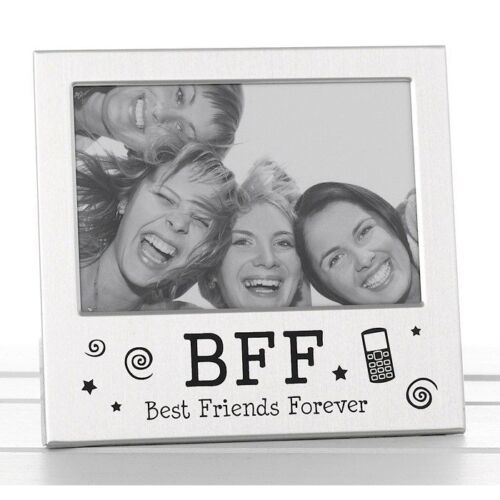 Best Friends Forever BFF Photo Picture Frame Satin Silver Finish Lovely Gift