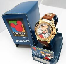 """MICKEY MOUSE,Lorus,Disney,""""One Touch Laughing"""",KIDS WATCH NIB,RARE,R15-96"""