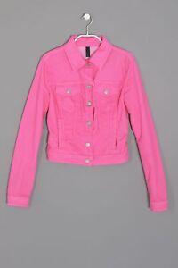 BENETTON-JEANS-Jeans-Jacke-S-frost-pink