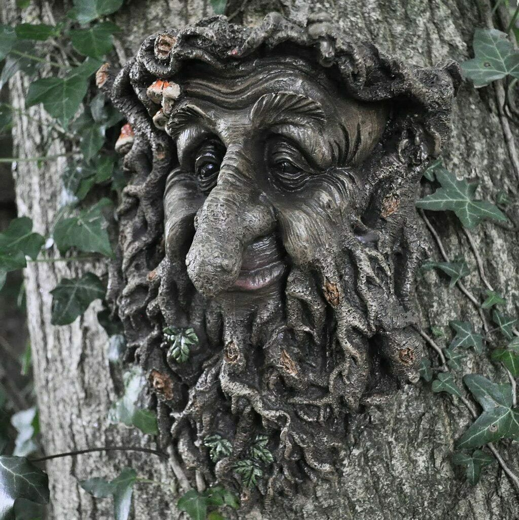 Greenman Decorative Wall Plaque Treant Face 39676 Great For The Garden