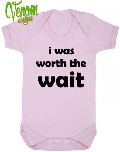 J/'ai été vaut l/'attendre bébé body grow vest anniversaire noël maman cadeau drôle