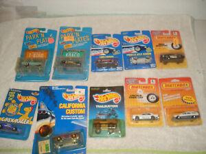 Hot-Wheels-Lote-Coches-Matchbox-Parque-personalizado-de-California-placas-trailbusters-sin-usar
