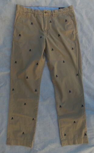 Men's Polo Ralph Lauren Skull Khaki Chino Pants Si