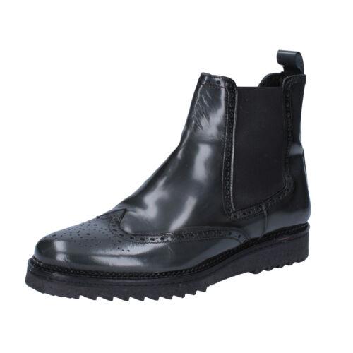 Grau Haut Salvo 43 Herren Bz143 d Stiefeletten Glänzende Schuhe Barone pv6Tq