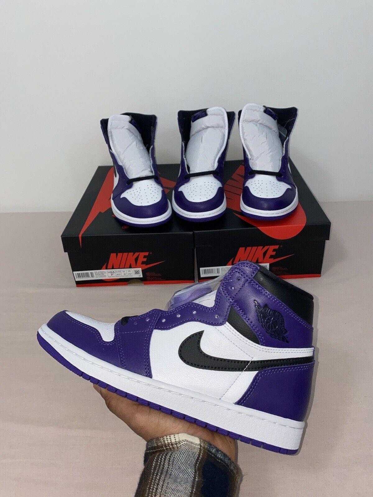 Jordan 1 Retro High OG Court Purple UK7