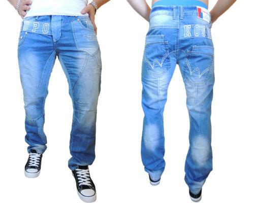 KOSMO Lupo Uomo Jeans Pantaloni Pantaloni Club l32 W 30 32 34 36 38