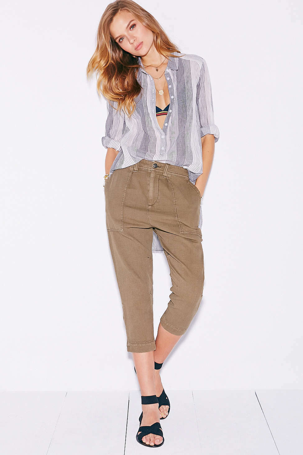 NWT AUTHENTIC Urban Outfitters BDG Pegged Fatigue Pant  Olive Grün  Größe 4