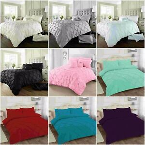 Alford-Pin-tuck-Duvet-Cover-with-Pillowcase-Quilt-Cover-Bedding-Set-All-Size