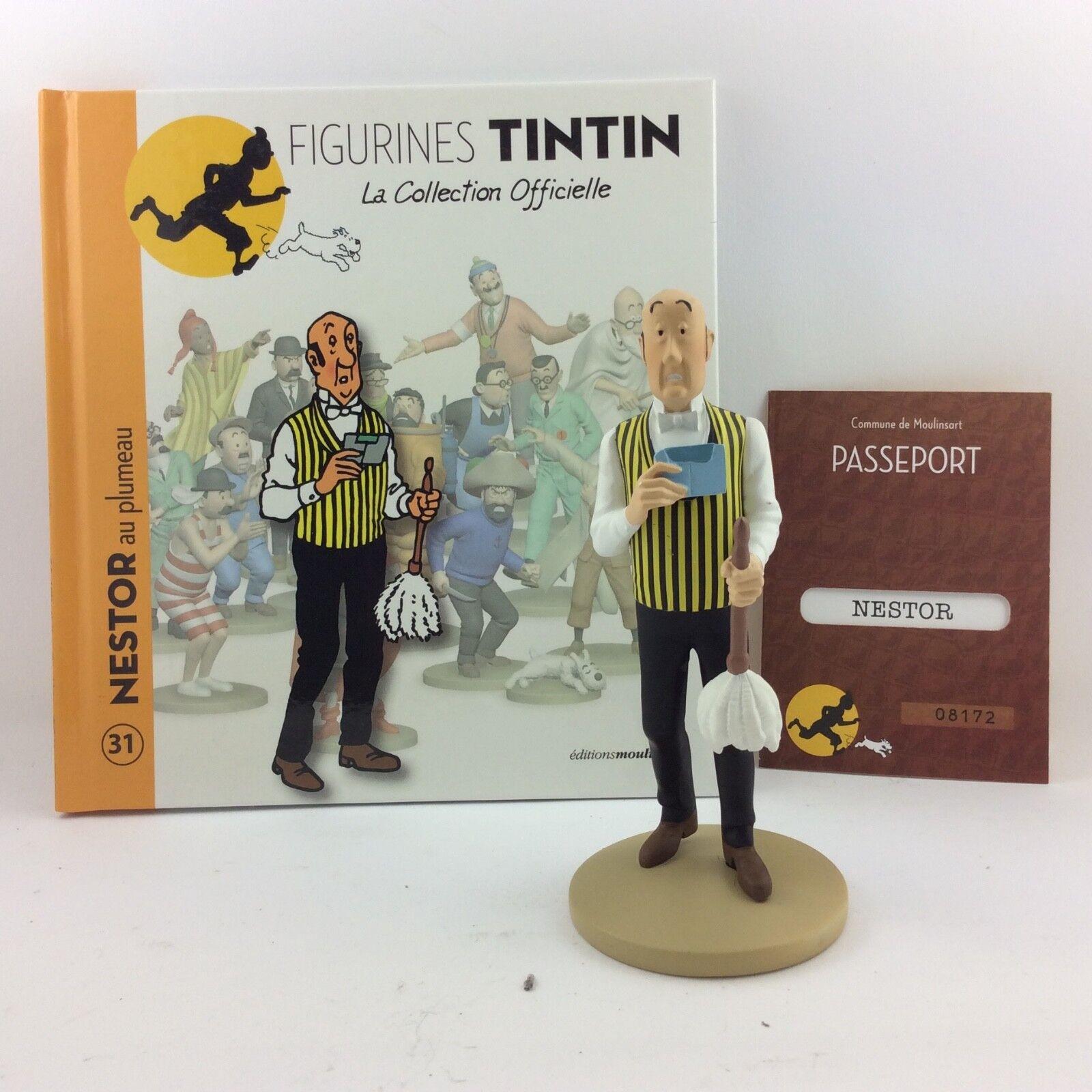 Collection officielle figurine Tintin Moulinsart 31 Nestor au plumeau
