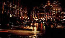 Brussels Brüssel Belgien Pan Am AK ~1950/60 Hauptstraße bei Nacht main asuare