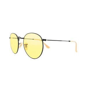 3e70ea8796a Ray-Ban Sunglasses Round Metal 3447 90664A Black Yellow Photochromic ...