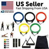 11Pcs Set Resistance Bands Workout Exercise Yoga Crossfit Fitness Training Tubes