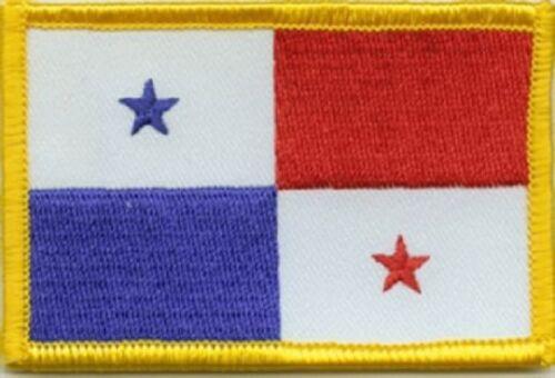 Ricamate Panama bandiera bandiera aufbügler Patch 8 x 5 cm