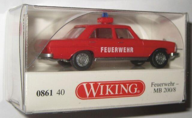 """NEU OVP Wiking 1//87 H0 086140 PKW Mercedes Benz MB 200//8 /""""Feuerwehr/"""""""