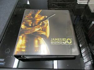 James Bond 50th Anniversary Series 2-11 Card Gold Plaque Embossed Insert Set