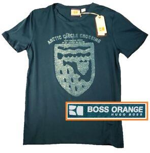 NWT Hugo Boss Orange Label By Hugo Boss LOGO Tee Printed Design T-Shirt Size L