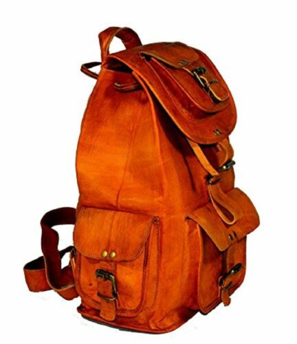 NEW Mens Vintage Denver Leather Laptop Back pack Rucksack Messenger Bag Satchel