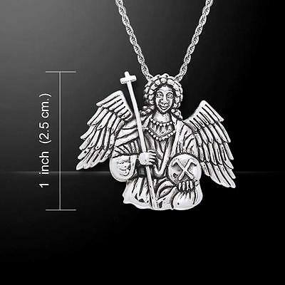Archangel Michael .925 Sterling Silver Pendant by Peter Stone