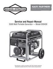 Briggs Amp Stratton 5500w Portable Generator 030430 Service Repair Amp Parts Manual