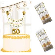 50th Golden Anniversary Cake Decorations Candles Sparkling Kit Amscan Internat