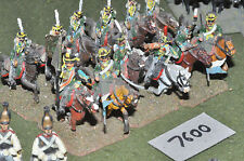 25mm napoleonic russian hussars 12 cavalry (7600) painted metal