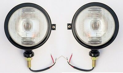 2x Head Lamp for FORD 35, 35X TRACTOR BLACK with BULB