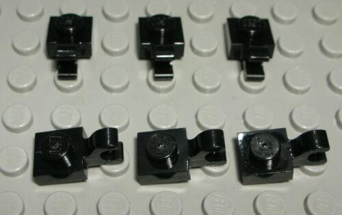 Lego Platte 1x1 mit Clip Schwarz 6 Stück 2247