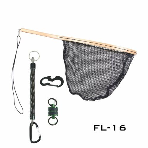 Maxcatch Fly Fishing Landing Net Trout Net Wooden Frame with Rubber Netting