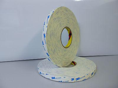 1 Rolle Spiegelklebeband doppelseitiges Klebeband weiß Schaumband 25mm x 50m