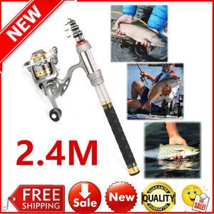 Spinning Reel Combo Full Kit Organizer Set J7A7 Lixada Telescopic Fishing Rod