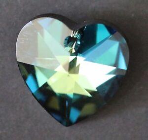 Swarovski Crystal Gold Shadow 28mm Heart 6202 Pendant// Suncatcher// Prism; Large