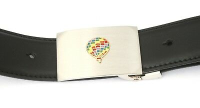 Verantwortlich Hot Air Balloon Buckle And Belt Set Black Leather Ideal Air Balloon Gift